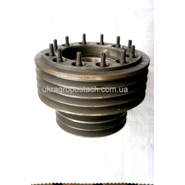 Шкив двигателя СМД-31 в сборе (8-руч.) ДОН-1500