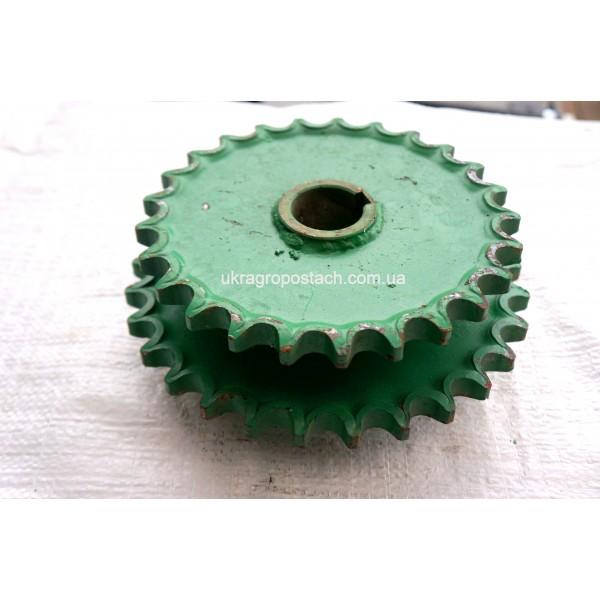 Блок звездочек наклонной камеры (z=28/25 t-25.4) ДОН-1500