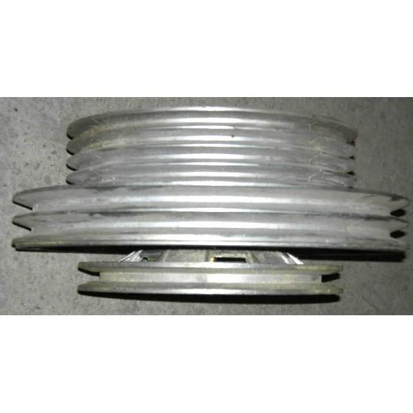 Шкив отбойного битера в сборе (двойной алюминиевый) 6+1 ручья ДОН-1500 для комбайна с измельчителем